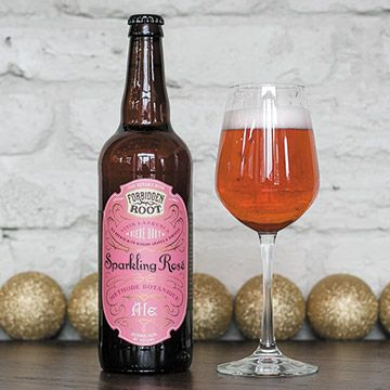 Sparkling Rose Ale is a finely bubbled Biere Brut that's brewed with Niagara grapes and Hibiscus.