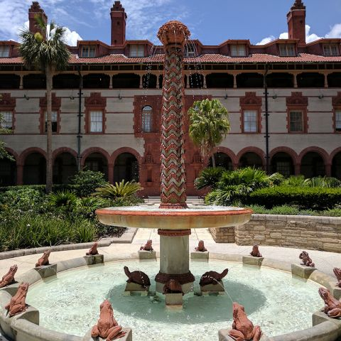 Flager College fountain in St. Augustine